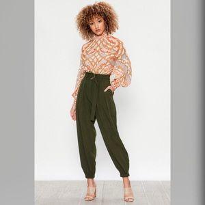 Pants - High Waisted Olive Pants